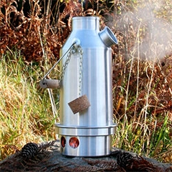 Kelly Kettles - An essential piece of camping equipment for Irish Fishermen for generations it can provide you with boiling water for hot drinks for 2 within 3-5 minutes.