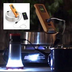 BioLite KettleCharge - An evolution of BioLite's core thermoelectric technology, the KettleCharge uses the water you boil to produce electricity. Whether you're off grid, or the power goes out - have potable water and power in no time!