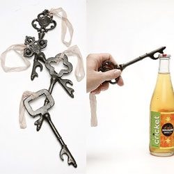 A twist on the Suck UK key ~ lovely skeleton key bottle openers!