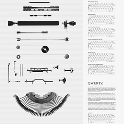 Cute poster showcasing the typewriters contribution to the invention of the keyboard, layouts throughout history and variations by country. By Hyejung Bae.