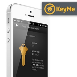 KeyMe ~ an app that lets you take a picture of your* key and have it easily cut at a locksmith/hardware store/etc, and you can store the files digitally. Also a nice easy way to copy any keys (you can take off a keychain)?