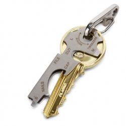 KeyTool Keyring Multi-tool has a file, tweezers and screwdrivers and takes up even less space than a pocket knife.