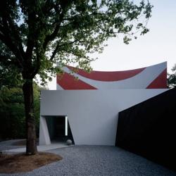 Keith Haring Museum by Atsushi Kitagawara in Kobuchizawa in Yamanashi prefecture, at the foot of the Southern Japanese Alps.