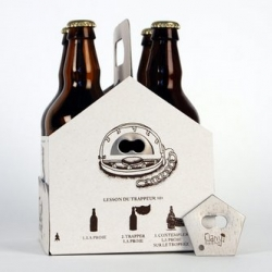 In my packaging class, Kimo Ouellette thought of a four-pack which includes a bottle opener, that can be kept for camping or any outdoor activities.