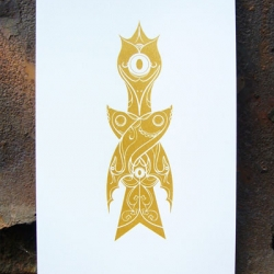 Limited Edition and affordable print from NOTCOT writer, Sub-studio. Kingdom of Spirit is a set of three prints sold individually.