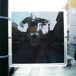 Ratzinger vs King Kong, a public photomontage installation in Rome, by 1nd3x (edoardo de falchi)