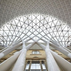 The King's Cross Station upgrades take shape in London ahead of next year's Olympic Games.