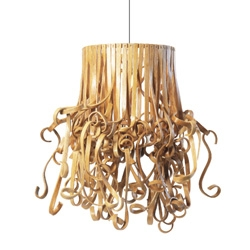 Rattan gets a makeover with this Kinks and Curls pendant. There is something about this lighting that makes you stare and stare.