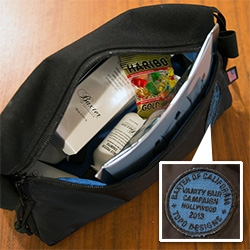 Baxter of California x Topo Designs x Vanity Fair Campaign Hollywood 2013 collaboration Dopp Kit filled with men's grooming goodies...