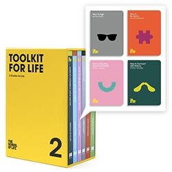 "The School Of Life's Tool Kit For Life Boxsets1 and 2 are filled with everything from ""How to Connect with Nature"" to ""How to Develop Emotional Health""... ""How to Age"" to ""How To Find Fulfilling Work"" and more!"