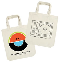 Food+Music = Turntable Kitchen. Get curated boxes of music, recipes, and dried food at your door step.