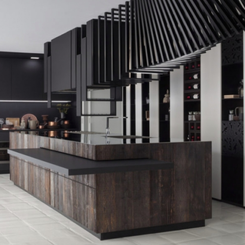 The Cut Evolution Kitchen brings the kitchen to the center of the house making it a meeting place, where you can converse and exchange new experiences. Designed by Alessandro Isola