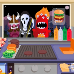 Beastie burgers is a cooking frenzy game where you play the role of Raoul, a dog boy trying to become the best burger chef in Monsterville.