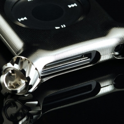 Crazy $800 titanium iPod nano case by Kiwami Studios.