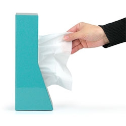 'STAND!' tissue case, an elegant space saving standing box for your Kleenex.