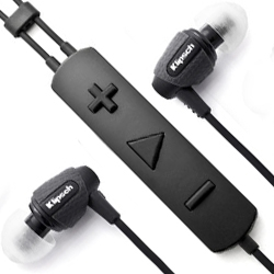 'Image S5i Rugged' by Klipsch. The in-ear headphones feature a mic and oversized moisture-resistant three-button remote.