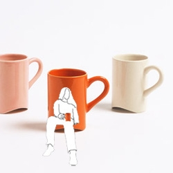 "im skeptical about its actual practicality, but the ""knee mug"" is my favorite of the 'not-at-the-table' series."