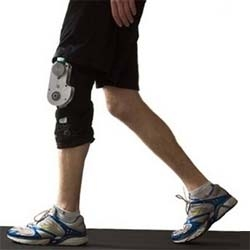 The Biomechanical Energy Harvester uses the power generated by your knees to power portable devices.
