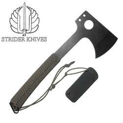 The handle and design of this Strider Hatchet is gorgeous
