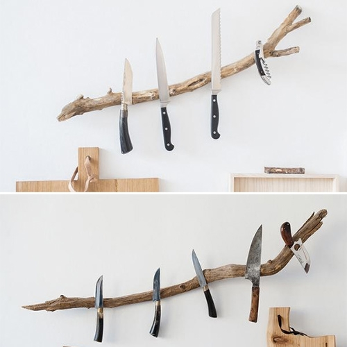 BUCHHOLZBERLIN's Messerast magnetic knife rack branches (in large and small)