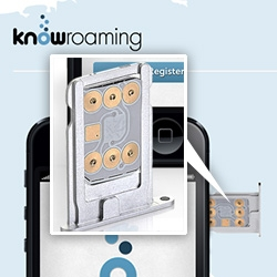 "KnowRoaming - ""Apply this sticker to your sim card to save up to 85% off your voice and data in 220 countries while traveling."" Interesting approach to global cell phone usage..."