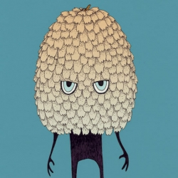 New Yap print. This is Koglemand, a pine cone with quite a temper and I think we caught him in one of his moods.