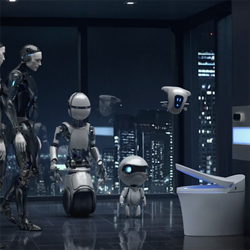 Robots + Toilets... love this Kohler ad for the Never Too Next campaign. Just found the making of! Great work by JAMM Visual.