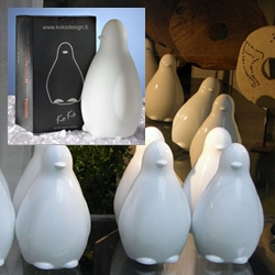 Koko is an adorable little wobbly penguin, available as a light or in ceramic. I hate every single one of them...