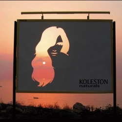 Koleston hair colourant wanted to promote its natural credentials and so created a cut-out billboard and the sun provided the colour. Campaign by Leo Burnett in Lebanon.