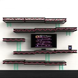 Igor Chak's Donkey Kong Wall shelving!