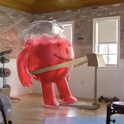 The Kool-Aid Man is BACK! Only now... a little slimmer, a little more CGI'd and 59 years old! By Saatchi & Saatchi in New York and VSA Partners of Chicago. The videos are adorable - and he still busts through walls!