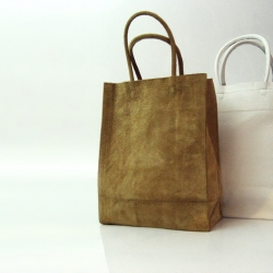 Slow and Steady Wins the Race's classic leather kraft carrier bags.
