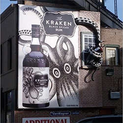 Kraken Rum ads by New York-based Dead As We Know It are literally pulling people out of buildings in Chicago!