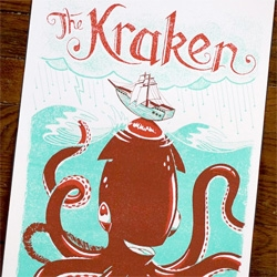 Family Tree's Monster Friends poster series. - the cutest kraken, loch ness monster, sasquatch and yeti ever!!!