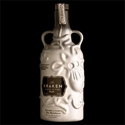 A limited ceramic bottling of Kraken Rum - designed by Stranger & Stranger!