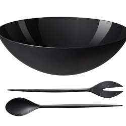 The Krenit bowl and Salad set was designed in 1953 by the Danish engineer Herbert Krenchel. For decades it has been a collector's item, but is now back in production by Normann Copenhagen.