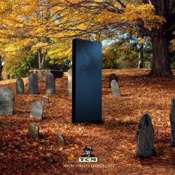 What would legendary directors' tombstones look like if they were crafted after their movies? This print campaign from TCM answers the question.