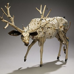Curious and enchanting sculptures by artist Geoffrey Gorman made from lost and found objects.