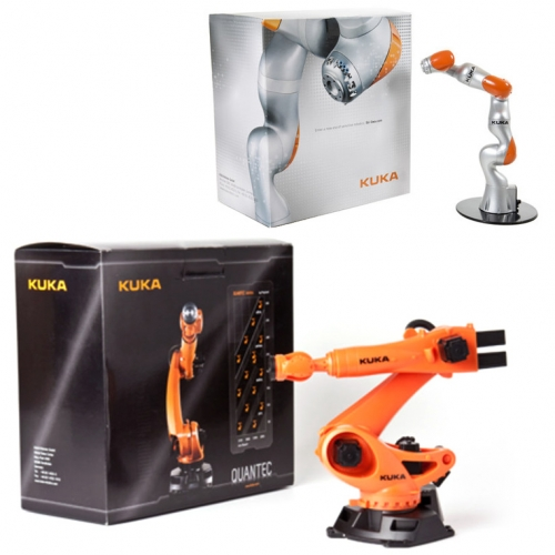 Kuka MINI Robot Arms! Adorable toy sized replicas.