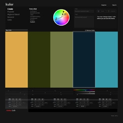 For the color theorists and amateur alike, KULER is a great little color palette generator from Adobe Labs