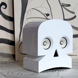 MinuSkull, Speakers by Kuntzel + Deygas - in white, black, and wood