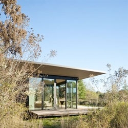 False Bay Writer's Cabin, a beautiful retreat/guest cottage from Olson Kundig Architects.