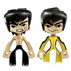 "Round 5 Bruce Lee Temple Of Kung Fu Series 1 - 3-inch blind box assortment of 28 characters including a variety of mystery characters. Designed collaboration with vinyl toy legend Jeremy ""MAD"" Madl."