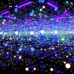 Yayoi Kusama's Infinity Mirror Room in London's Tate Modern.