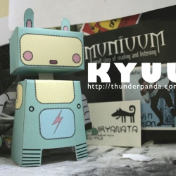 a new character by Thunderpanda. an easy to make papertoys named Kyuu!