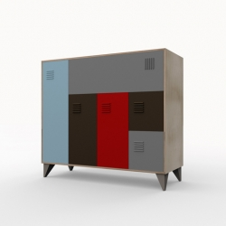 Created by 20.87 estúdio from São Paulo, the Ginásio closet - It is a remake of the classic gym locker.