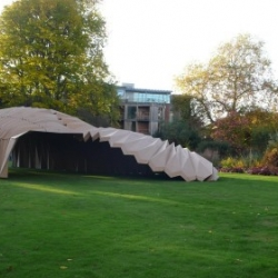 The Department of Architecture at The University of Cambridge designed this cardboard structure for a banquet on the 23 October to celebrate the new term
