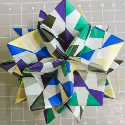 Math Art: How to make an origami truncated icosahedron, pentakis dodecahedron & more...