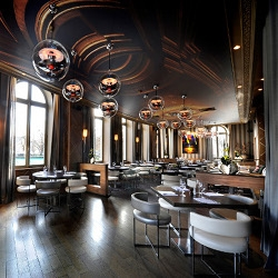 L'Arc Paris is a new high design restaurant, bar and nightclub named after the historic Parisian monument right across the street, the Arc de Triomph.
