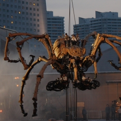 Giant robotic spiders built by La Machine, coming to Yokohama for the city's 150th anniversary.